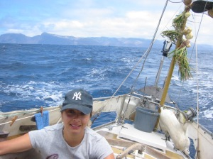 11th October 2004 the day we left St Helena on little Noa.