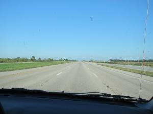 The long road a head.