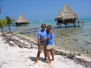 Us at Glovers Reef.