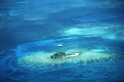 Aerial view of Owens Caye.