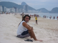On Copacabana Beach.