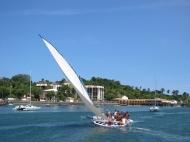 Local sailing boat.