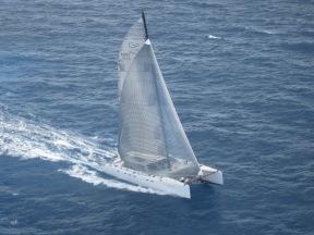Coco de Mer under sail.