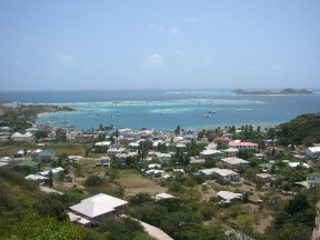 Over looking Union Island.