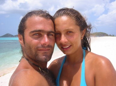 Us on Sandy Caye.
