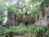 Visiting the prison ruins on the Devil Islands.