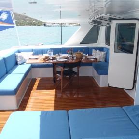 Kanaloa aft Cockpit.