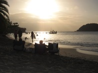 Antiguan Sunset over Pigeon Beach.