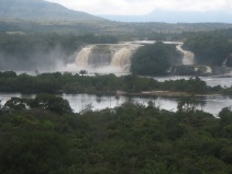 Arriving in Canaima National Park.