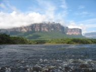 Leaving the Angel Falls.