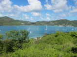 Overlooking Falmouth Harbour, Antigua.