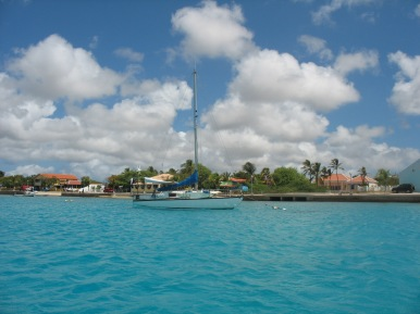Noa moored in Bonaire.