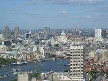 Overlooking London.