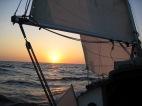 Sailing away from Venezuela.