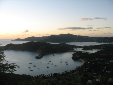 Overlooking English and Falmouth Harbour, Antigua.