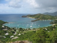 Overlooking English Harbour, Antigua.
