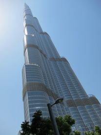 The tallest building in the world - Burj Khalifa.