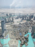 The view from the Burj Khalifa.