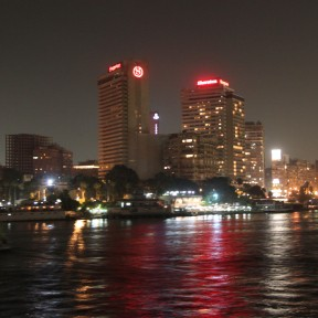 On the nile by night.