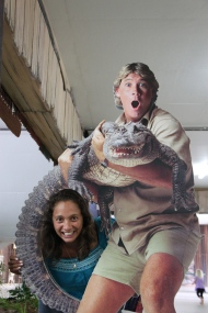 The late Steve Irwin.