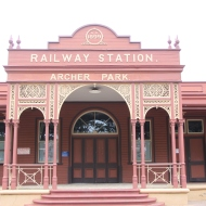 Old railway station.