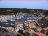 Over looking Bonifacio in Corsica.