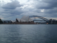 Sydney Harbour bridge and the Oprah House.
