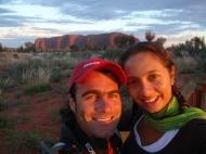 At Uluru.