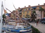 The fishing village of Sanary Sur Mer, France.