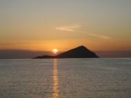 A Greek sunset.