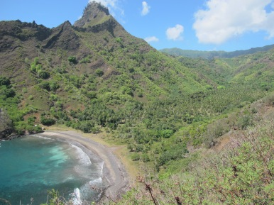 A beautiful bay in Hiva Oa