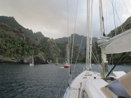 The Marquesas - Anchored in the Bay of Virgins