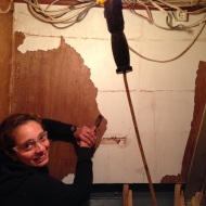 Scraping the Formica.