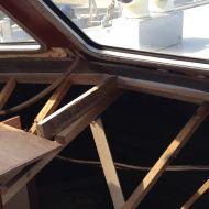 Applying new wood for frames.