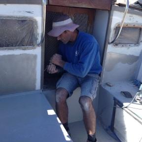Prepping the Pilot House.