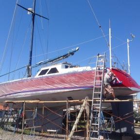 Protecting the hull.