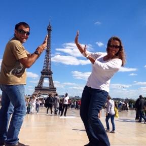 Messing around in Paris.