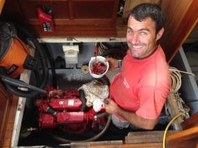 Taking apart the generator.