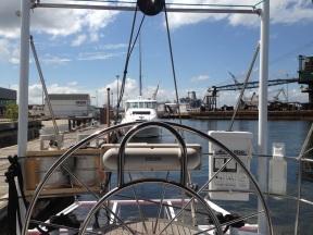 Safety Equipment on Port stern.