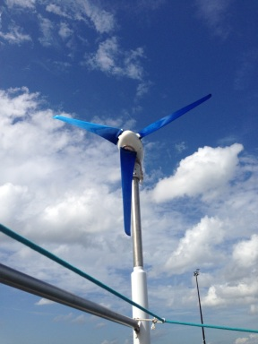 Dry fitting the Silent Wind Generator.