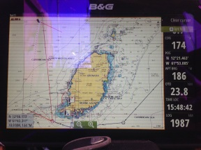 Approaching Grenada on the 17th August.