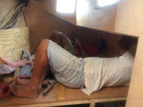 Lots of hard labourers work.