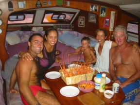Early 2005 in the Caribbean with the crew from Catar.