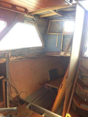 The cabin when he started in November 2017.